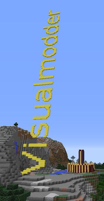 Minecraft block text